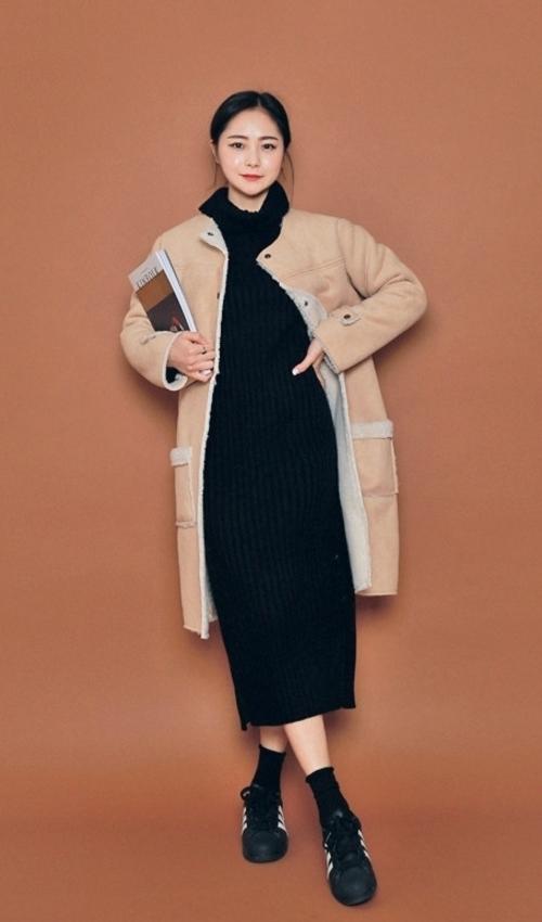 Polyester Lining Midi Coat