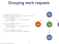 Grouping work requests