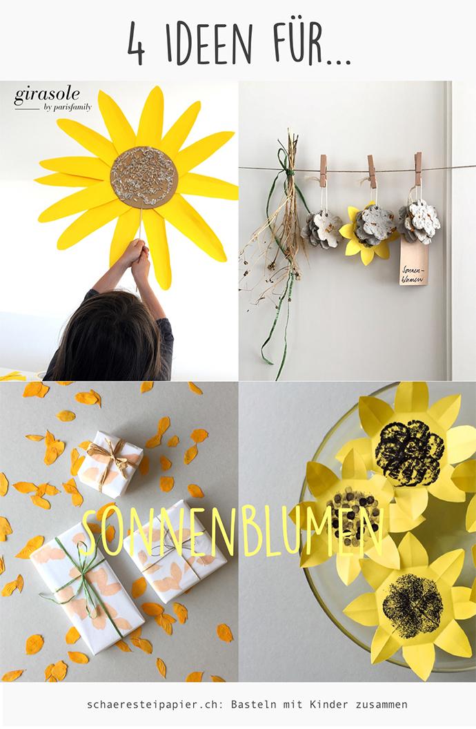 Schaeresteipapier 4 Ideen Fur Sonnenblumen