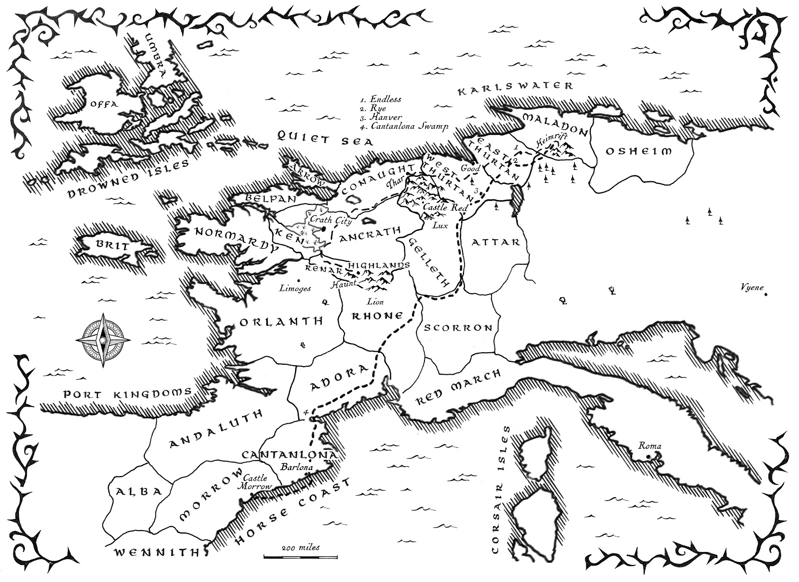 A Fantasy Reader King Of Thorns Map