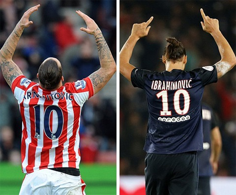 Cách ăn mừng cũng đồng điệu với Ibrahimovic
