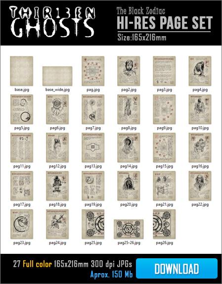 Propnomicon Thirteen Ghosts Black Zodiac