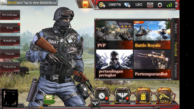 Total Size Game CrossFire : Legends Ada Mode Battle Royale dan PVP