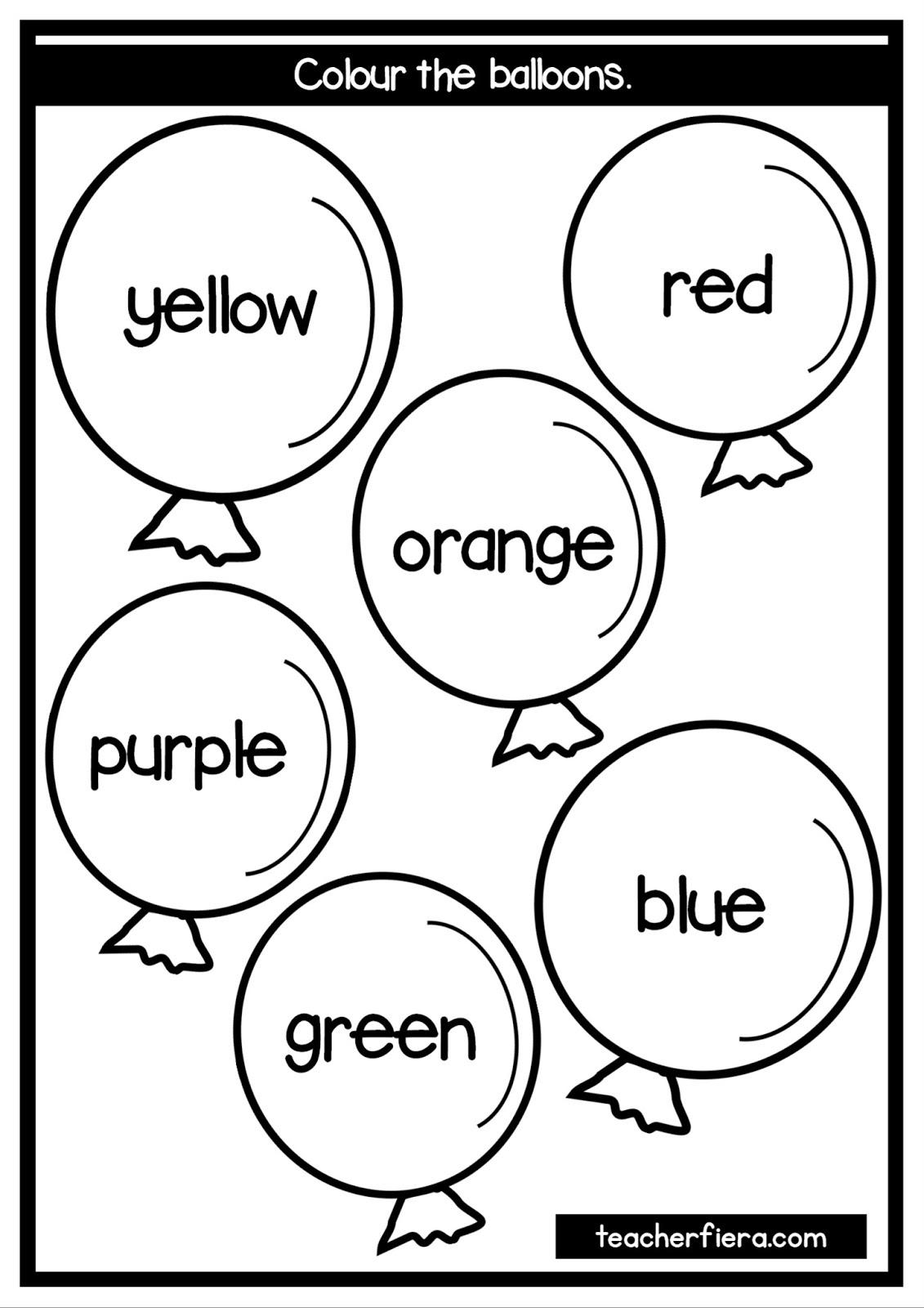 Teacherfiera Colours Flashcards Amp Worksheets