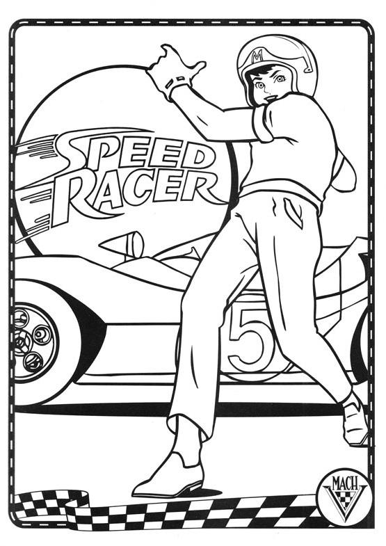 speed racer coloring pages meteoro speedracer para dibujar pintar imprimir recortar y