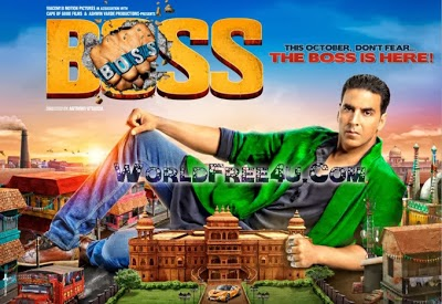 Poster Of Hindi Movie Boss (2013) Free Download Full New Hindi Movie Watch Online At worldfree4u.com