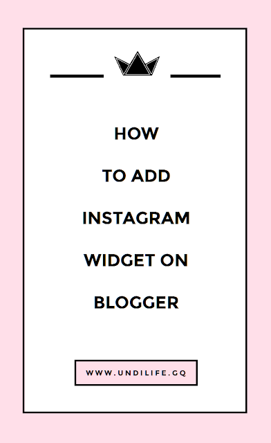 how to add instagram widget on blogger