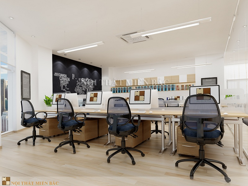 Thiết kế văn phòng làm việc đủ công năng