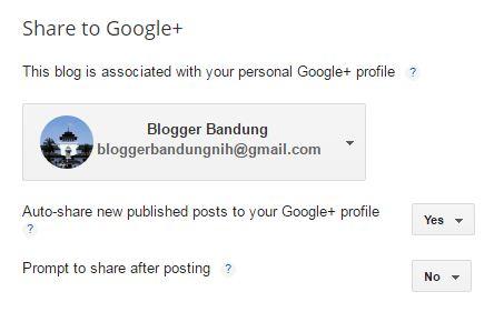 Cara Share Otomatis Posting Blog ke Google Plus