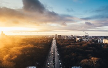 Wallpaper: Sunset at Tiergarten