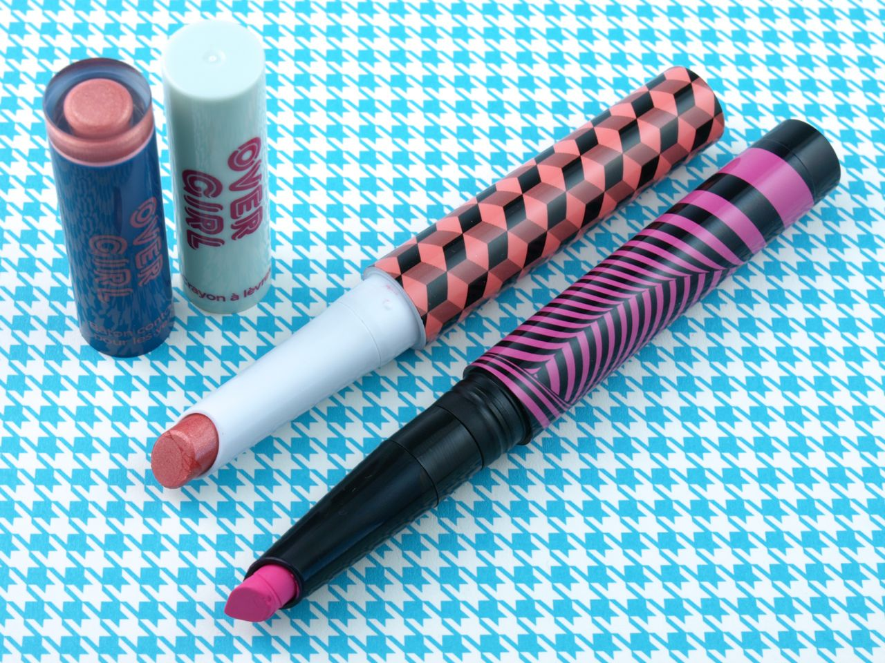 The Face Shop Overgirl Edge Lip Crayon & Edge Stick Eyes: Review and Swatches