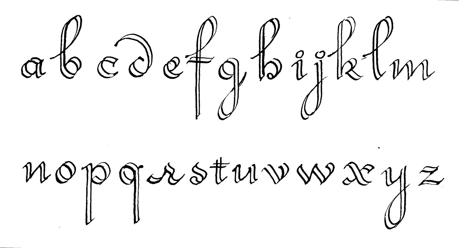 Margaret Shepherd Calligraphy Blog 199 Split Ronde Small Letters