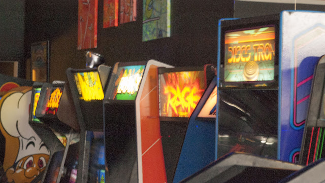 Video games at High Scores arcade in Alameda, California