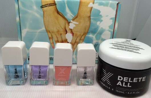 Review of Formula X The System XCEL Customizable Gel-Like Nail Polish Set with Delete All remover