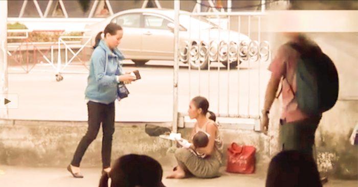 Nghi vấn cặp đôi tiêm chất lạ vào bé gái để dễ dàng bế đi ăn xin, lợi dụng tình thương của mọi người…