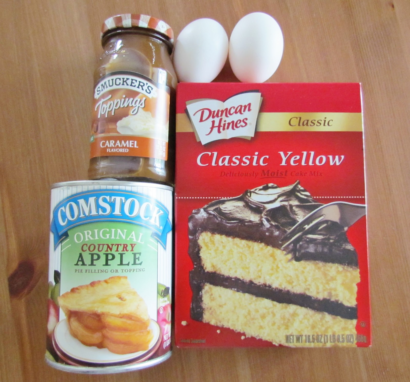 Yellow Cake Mix And Apple Pie Filling