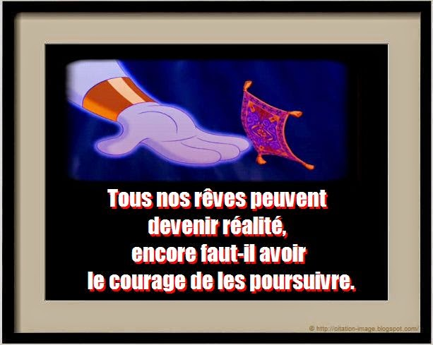 Jolie citation disney reve en image