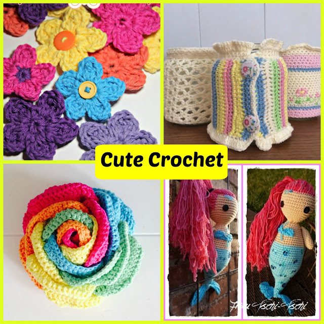 Spotlight Crochet Patterns : Crochet Flower Pattern from The Philosophers Wife , Jackets for Jars ...