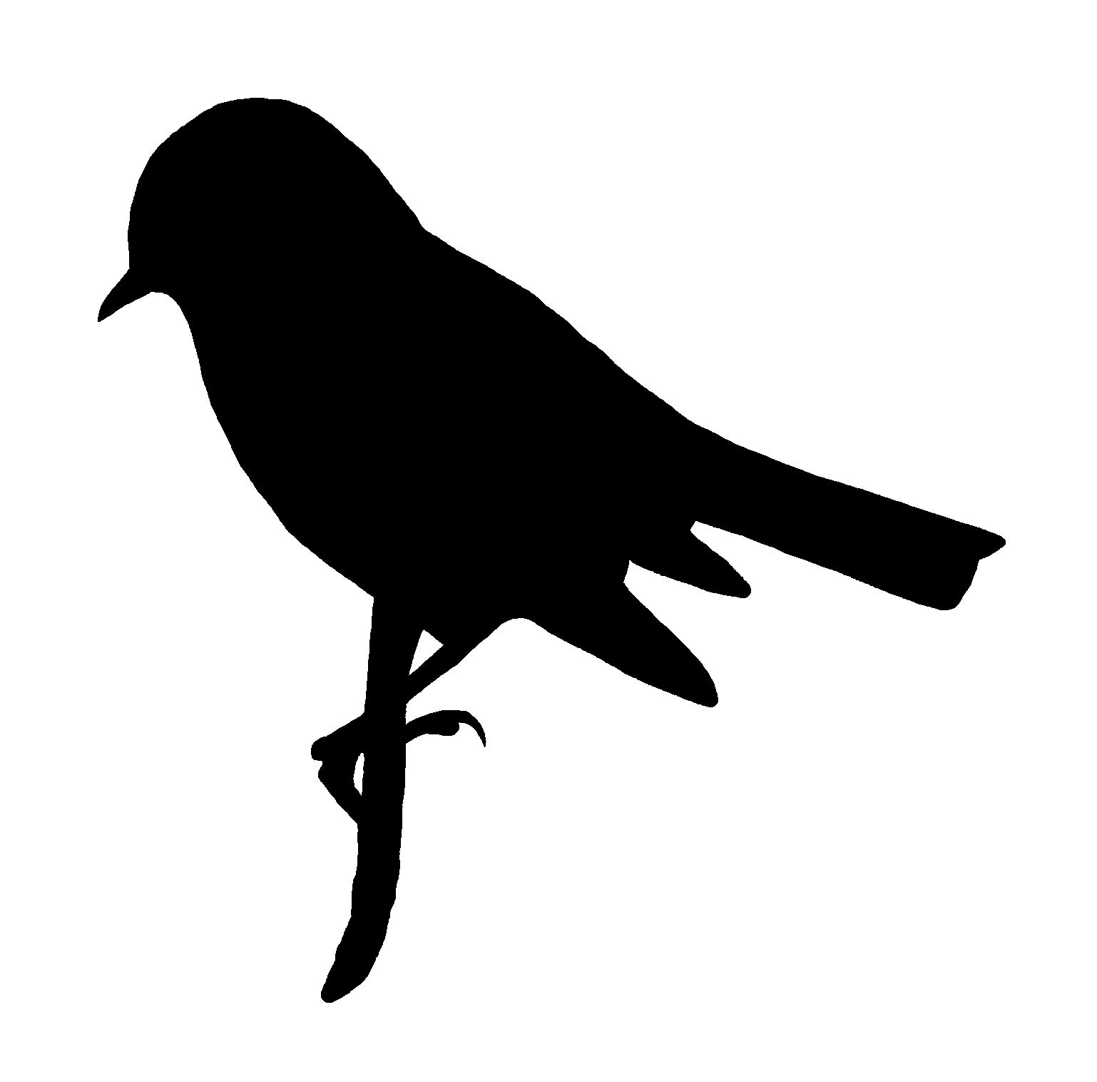 Digital Stamp Design: Printable Bird Silhouette Commercial ...