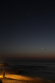 New moon Venus and Jupiter 18/6/2015