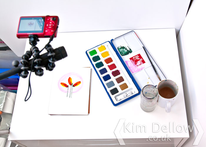 Behind the scenes of Kim Dellow Filming her Art Slice videos