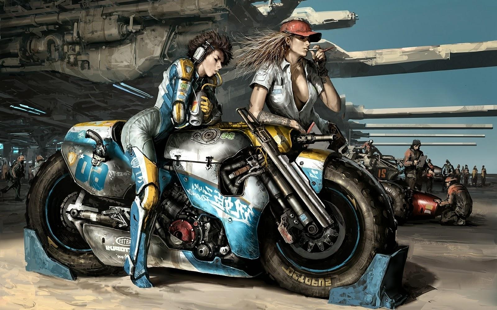 sexy girls bikes wallpapers - photo #12