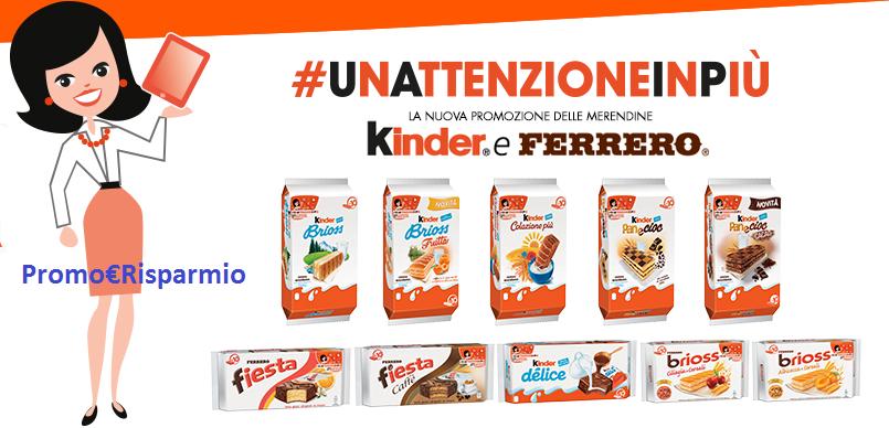 Logo Nuovi Premi con #unattenzioneinpiù di Kinder e Ferrero