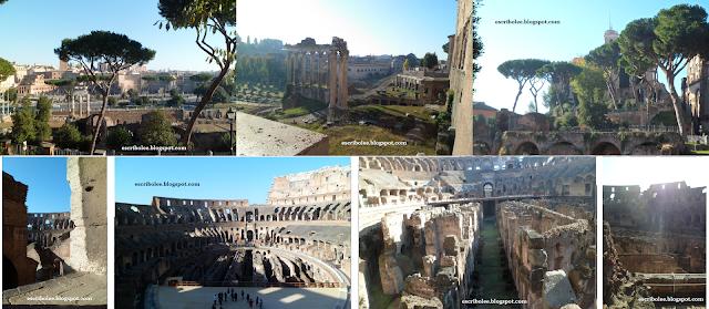 Viaje a Roma: interior del Coliseo