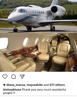 Flamboyant preacher thanks church members for his new private jet