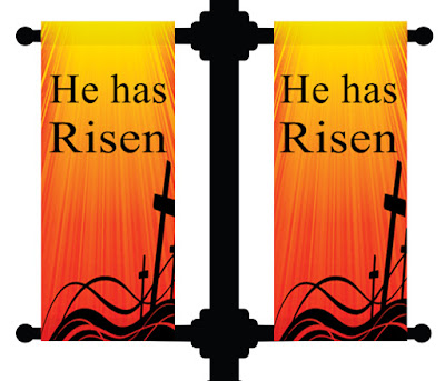 Easter Church Pole Banners | Banners.com