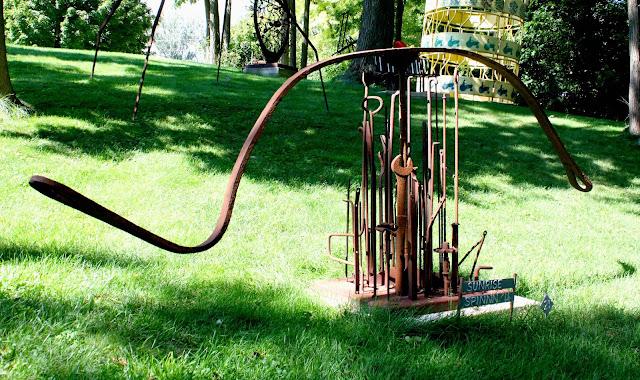 Sunrise Spinn' Welded Sculpture at West Street Sculpture Park in Galena, IL