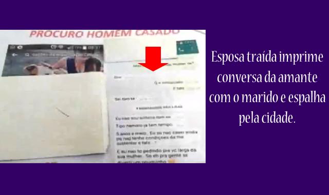 Amante denuncia esposa após divulgação de conversa no WhatsApp.