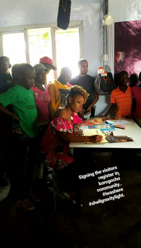 Singer Yemi Alade Launches Light Project & New Community Centre In Nairobi