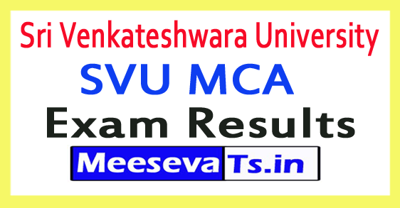 Sri Venkateshwara University SVU MCA Exam Results 2017