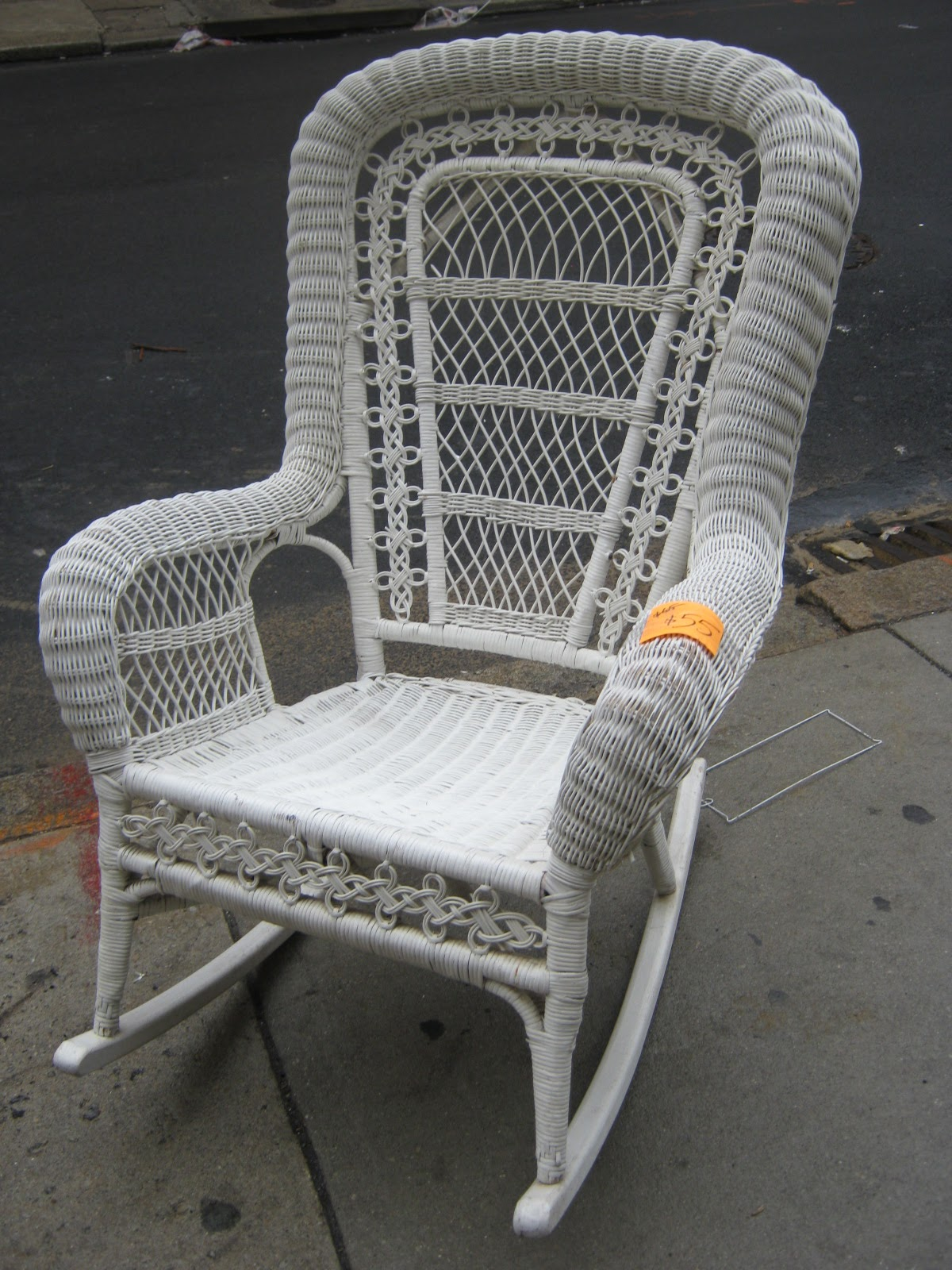 White Wicker Rocking Chair Uhuru Furniture And Collectibles White Wicker Wonderland Sold