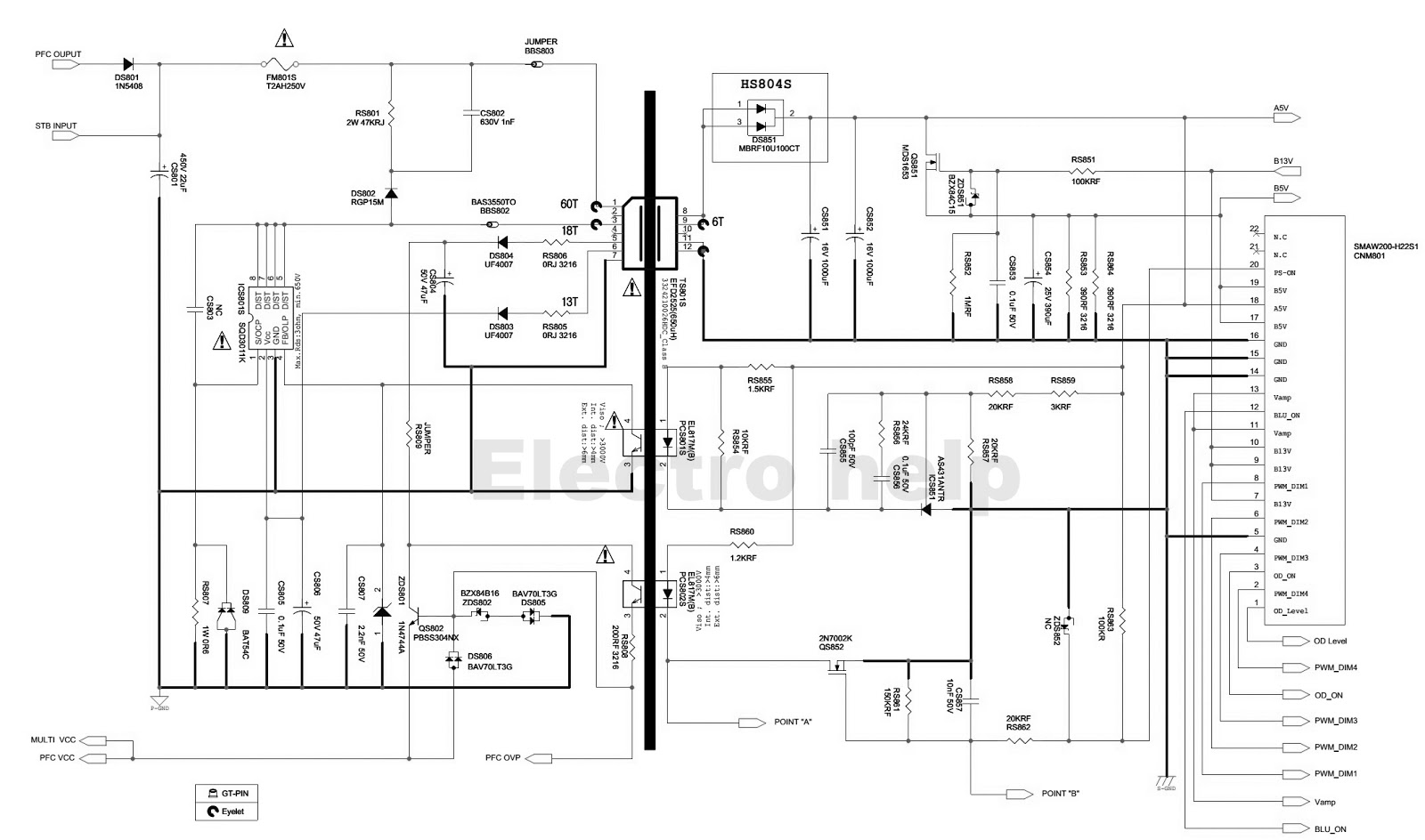 Samsung Bn44 B Led Lcd Tv Smps Circuit Diagram