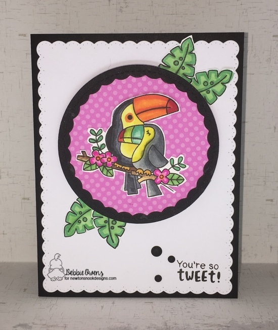 You're so tweet! by Debbie features Toucan Party and Frames & Flags by Newton's Nook Designs; #newtonsnook