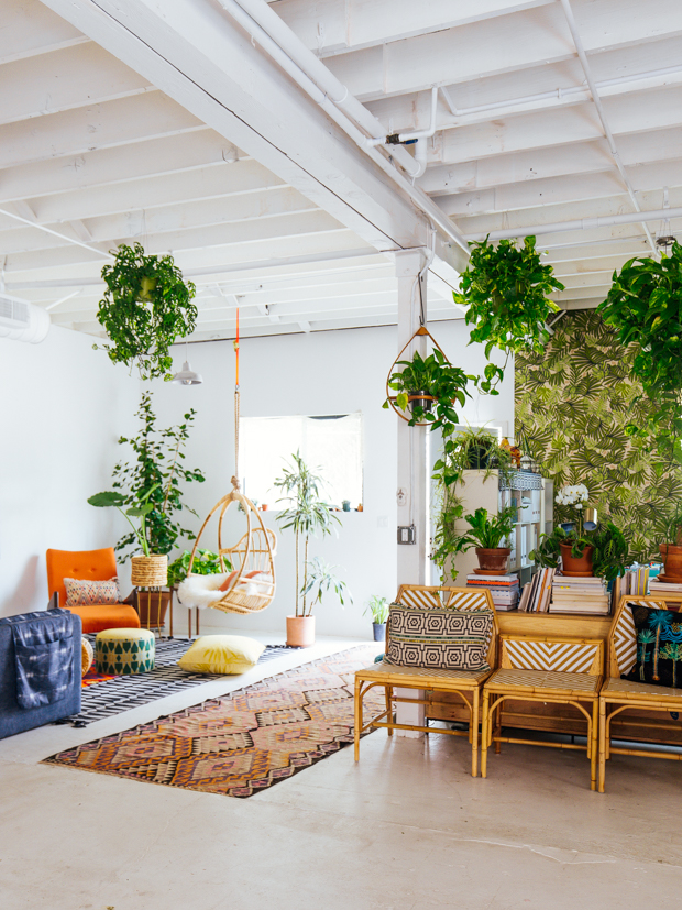 Justina Blakeney's New Jungalow HQ is So Droolworthy- photos- Dabito- via design addict mom