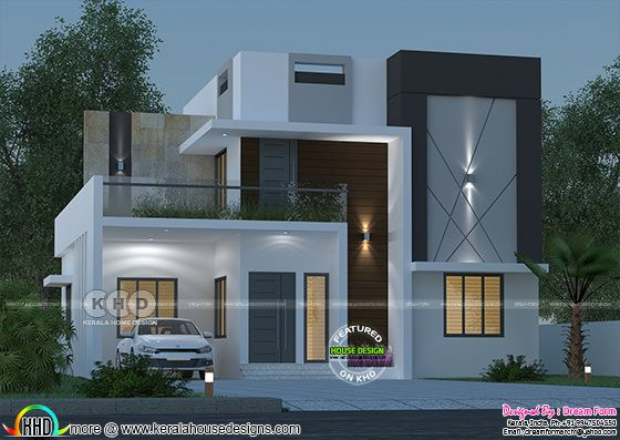 1730 square feet 3 bedroom double storied modern home