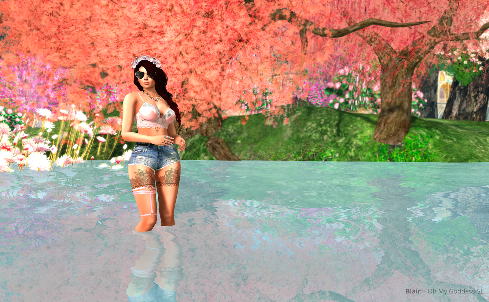 Picture of Flowers Everywhere outfit at Japan Tempura Island