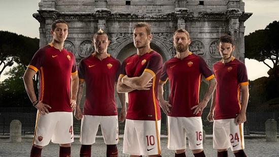 AS Roma ra mắt mẫu áo đấu mới do Nike thiết kế.