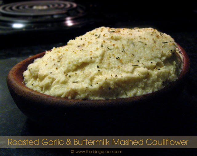 Roasted Garlic & Buttermilk Mashed Cauliflower