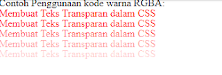 Kode Warna Css Transparan Keren Lengkap Full Color
