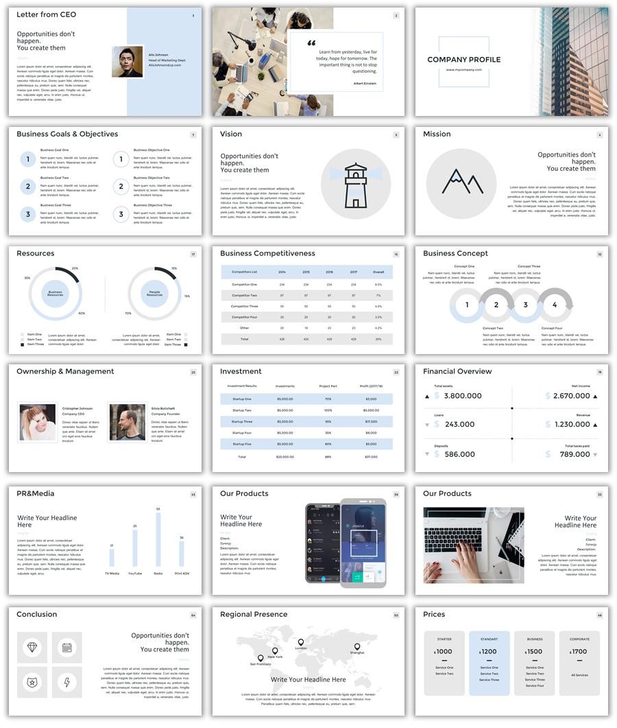 تصميم جاهز لملف تعريفي للشركات 2018
