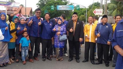 KPU Pariaman Terima Pendaftaran Paslon Dewi-Pabrisal
