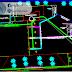 مخطط مشروع محطة بنزين صغيرة كاملا اوتوكاد dwg