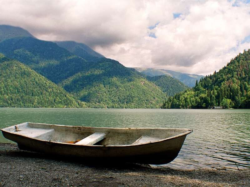 The Wolf Of The Caucasus: Lake Ritsa, Abkhazia