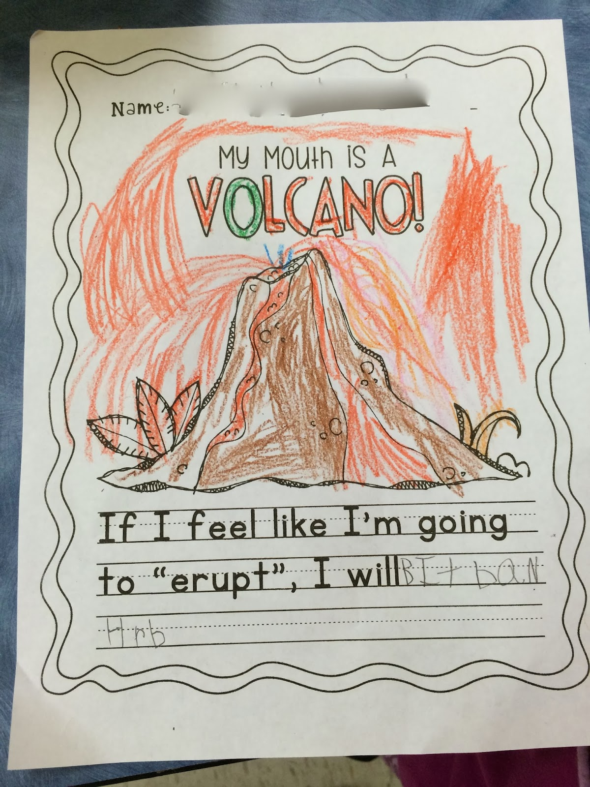 Ms Sepp S Counselor Corner My Mouth Is A Volcano
