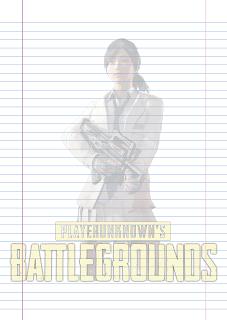Folha Papel Pautado Battlegrounds modelo 5 PDF para imprimir folha A4