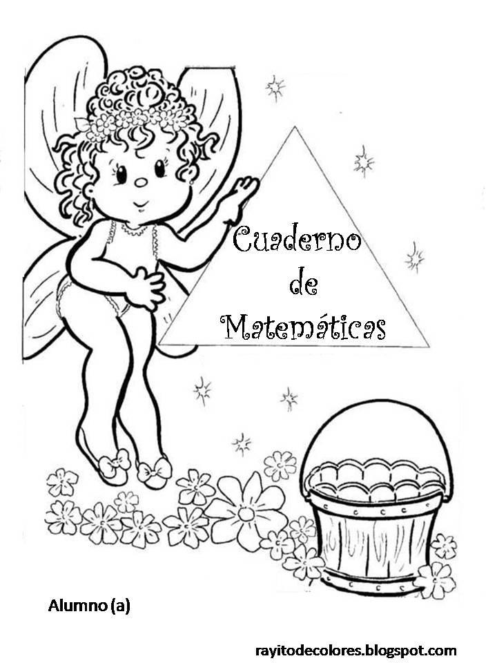 Carátula para cuaderno de Matemáticas